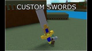 custom swords tutorial | ROBLOX Build A Boat For Treasure