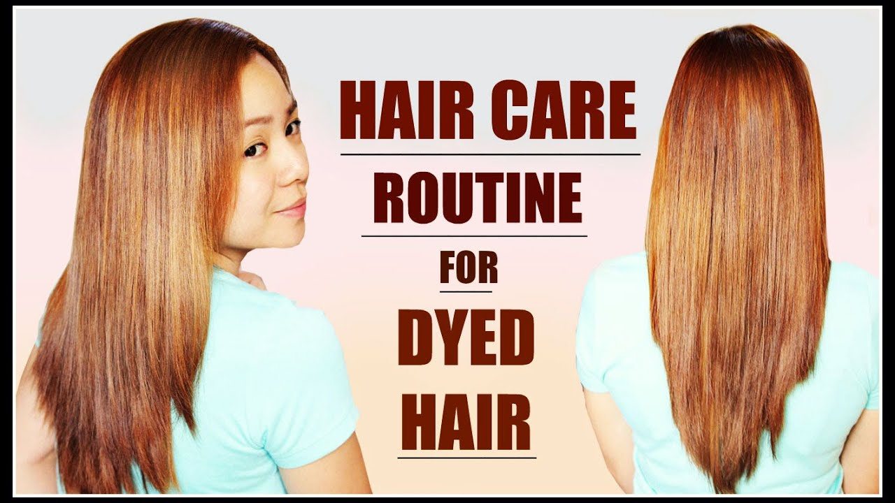 Color lamination of hair