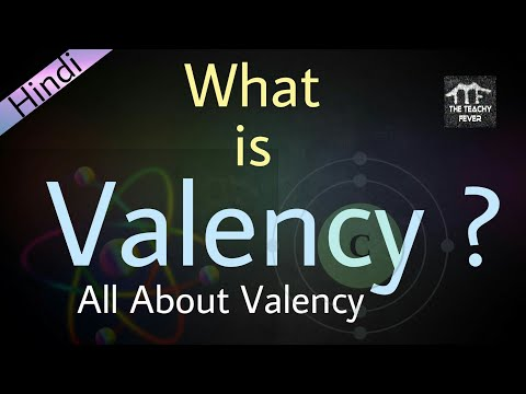 What is Valency ? | All About Valency in Hindi / Urdu | Concept #1