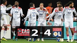 GUINGAMP  2  -  4   LYON  MATCH  SUMMARY  HIGHLIGHTS