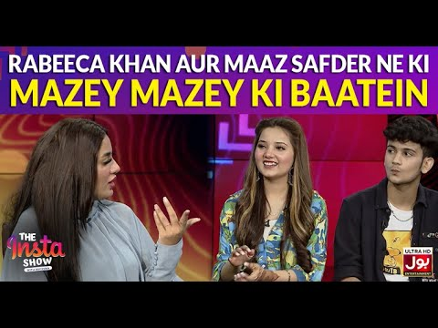 Download Chit Chat with Rabeeca Khan & Maaz Safder in The Insta Show with Mathira | The Insta Show
