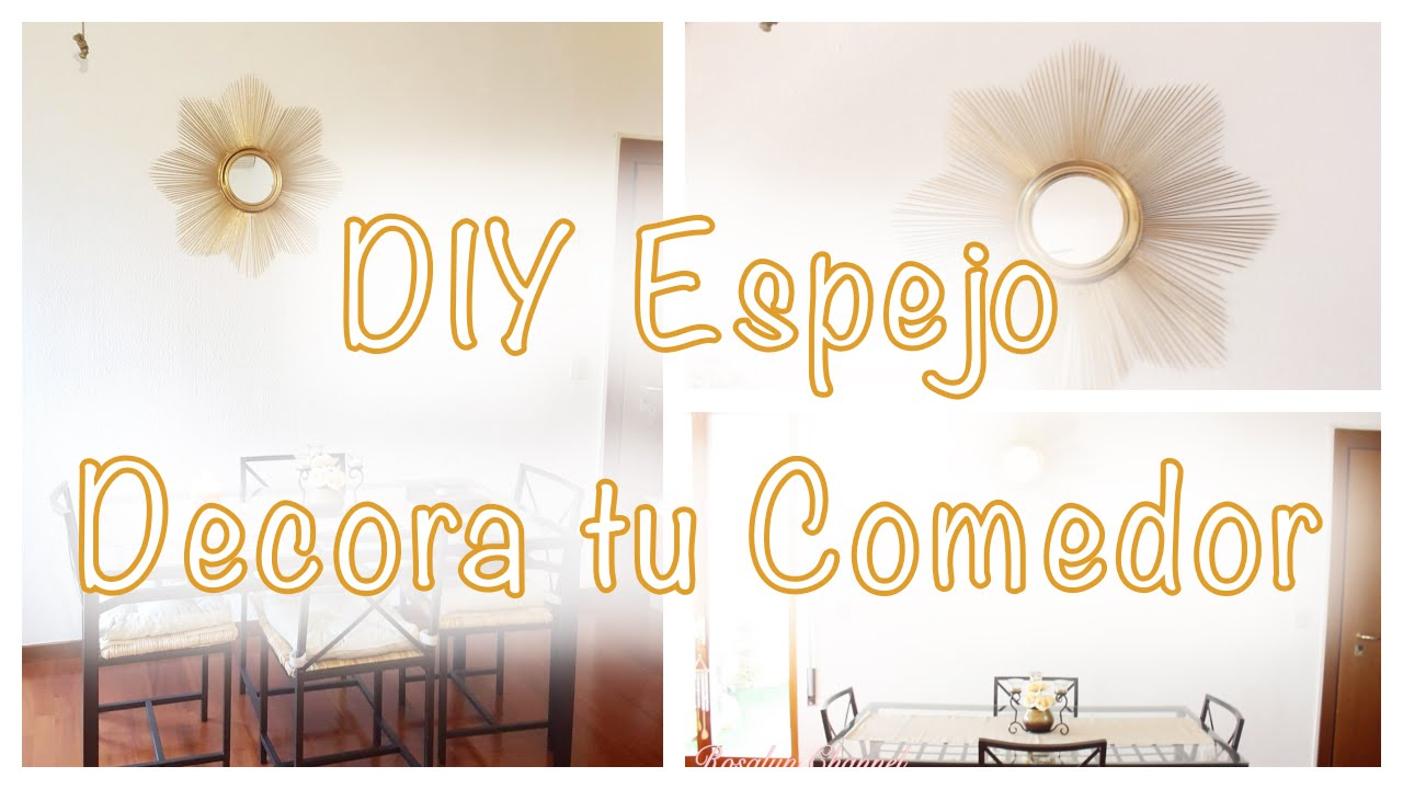 Decora tu comedor ideas diy espejo de palitos for Decora tu comedor