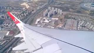 إقلاع طائرة الخطوط الجوية التركية من مطار أتاتورك