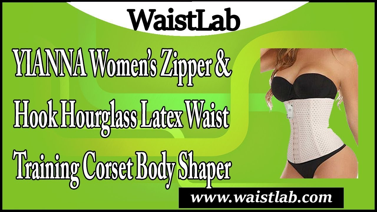 e9abcdef42b YIANNA Latex Waist Training Corsets Zip hook Underbust Fat Burner Hourglass  Body Shaper Review