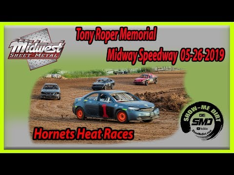S03-E249 Tony Roper Memorial Hornets Heat Races Lebanon Midway Speedway 05-26-2019