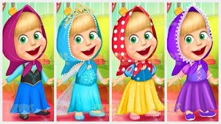 Masha And The Bear Disney Princess Dress Up (Маша и Медведь) Games For Kids