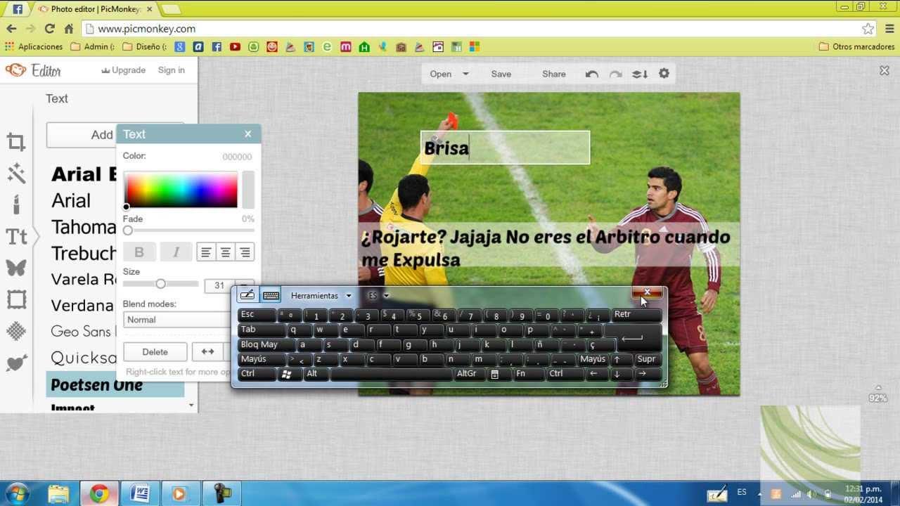 Como Hacer Imagenes Con Frases De Futbol Youtube