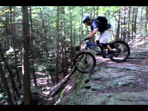 mountain biking in trumbull CT  wayne on the wall