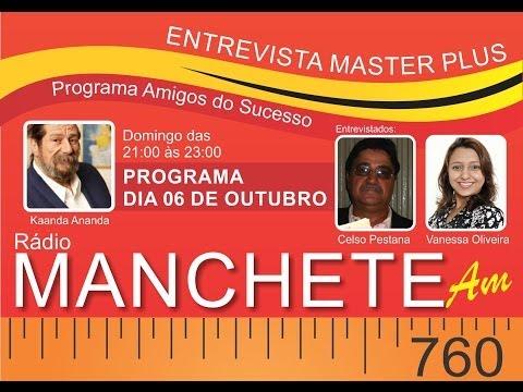 Entrevista Master Plus do Brasil à Rádio Manchete