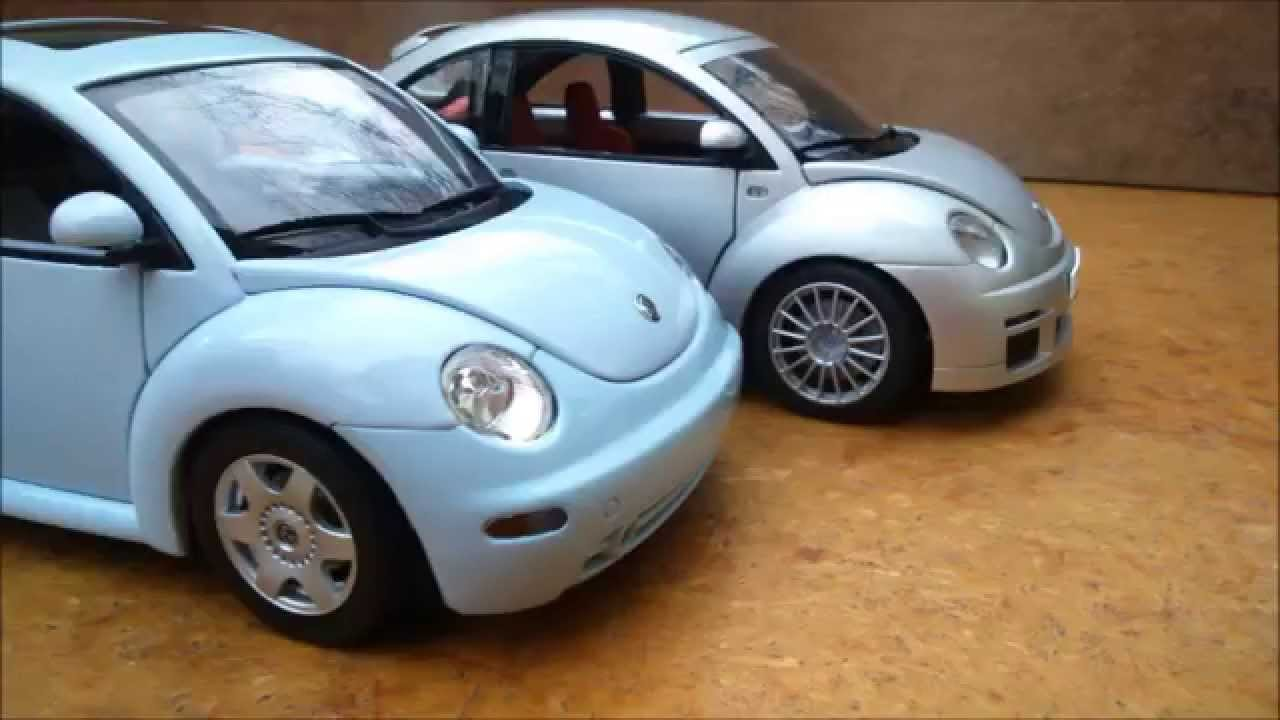 volkswagen new beetle vw new beetle rsi 1 18 autoart youtube. Black Bedroom Furniture Sets. Home Design Ideas