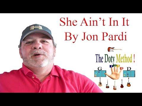 Jon Pardi-She Ain't In It-Beginner-Guitar Lesson-Tutorial