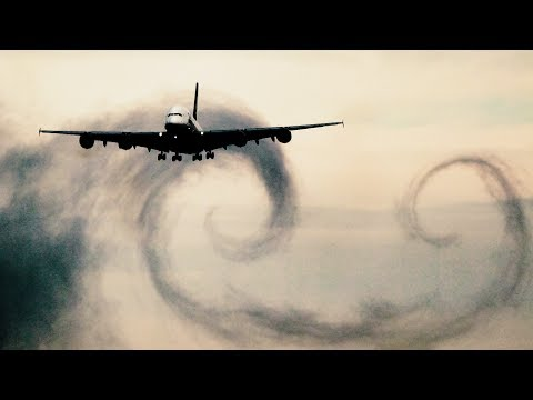 SPECTACULAR! Airbus A380 Condensation and Vortices on Landing at Zurich Kloten Airport