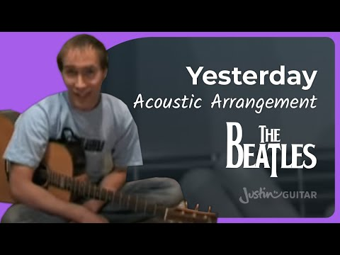 Yesterday - Beatles #1of3 (Songs Guitar Lesson ST-200) How to play