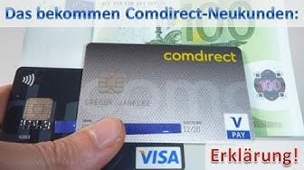 Comdirect Neukunde ► 2 Karten und 100 Euro Prämie