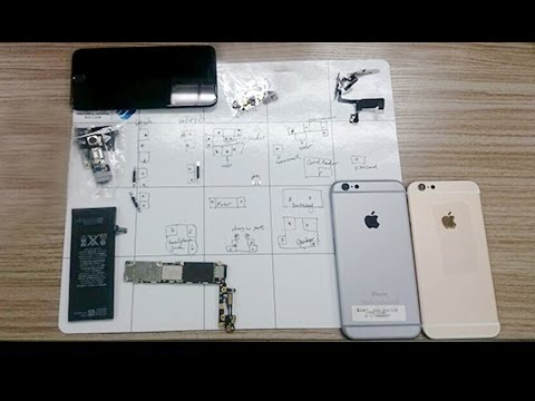 How to replace bare iPhone 6 rear housing? - Complete iPhone 6 teardown & assembly tutorial