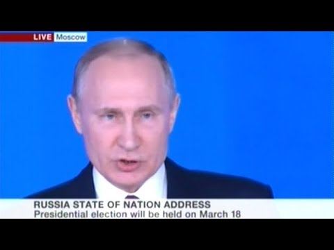 """President Putin Introduces New """"Invincible Nuclear Missile"""" At State Of The Nation Address"""
