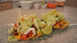 How to Cook Ground Beef & Refried Bean Tostadas