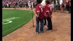 The Isaacs -- Sing National Anthem at Cincinnati Reds Game.