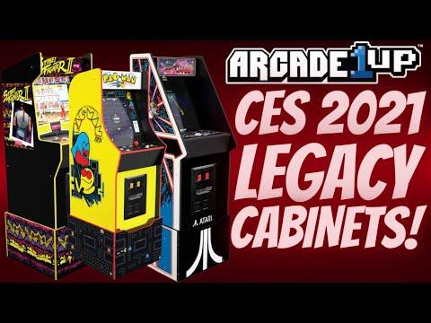 Arcade1Up CES 2021 Reveals! Capcom, Atari, Namco Legacy Cabinets Confirmed! from PDubs Arcade Loft