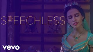 "Gambar cover Naomi Scott - Speechless (From ""Aladdin""/Official Lyric Video)"