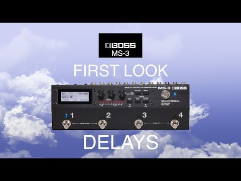 First Look At The BOSS MS-3 Delays!