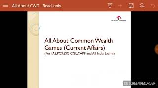 Current issue Common wealth games 2018 ||arihant classes|| punjab gk || Ias .pcs. and all gk||