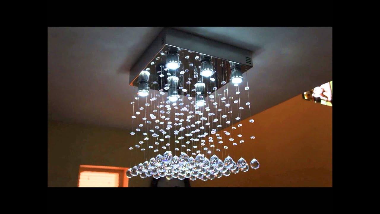 lustre led com cristais egipc os youtube. Black Bedroom Furniture Sets. Home Design Ideas
