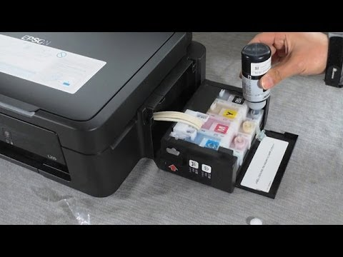 HOW TO REFILL INK IN EPSON L210