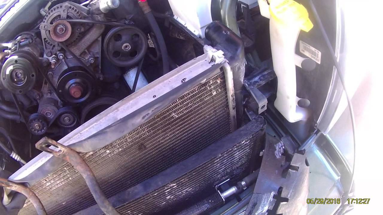 medium resolution of how to replace radiator in 2006 jeep commander 3 7l