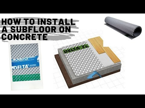 how-to-install-a-subfloor-on-concrete