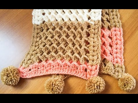 Crochet Echarpe 3d Youtube