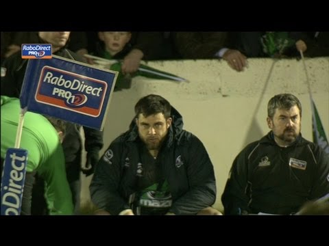 Ronan Loughney only on but Yellow Card for maul collapse ! -  Connacht v Zebre 1st March 2013