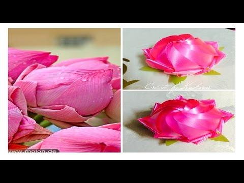 "Ribbon weaving : Sacred lotus เหรียญโปรยทาน ""ดอกบัวพับกลับซ้อน"" by kuck"