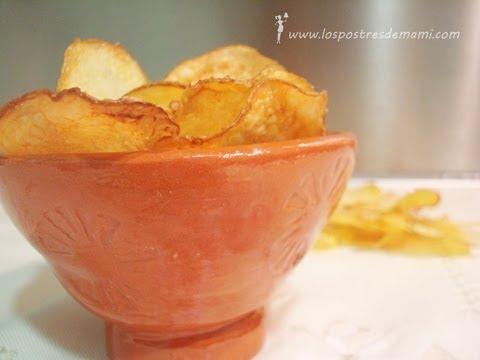 Patatas chips al horno recetas f ciles de los postres de for Postres faciles