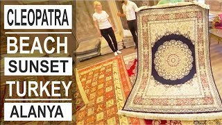 Turkey: Handmade silk carpets in Alanya. Sila Hali carpet shop