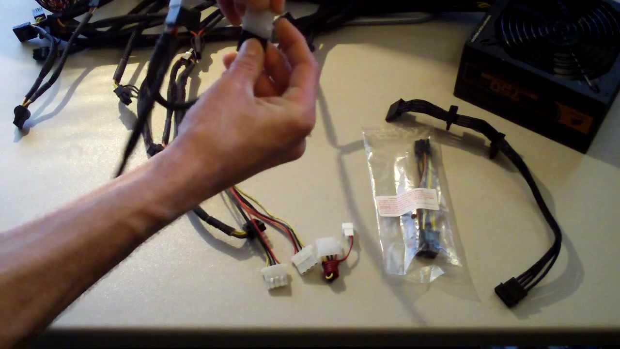 4 Wire Cpu Fan Wiring Diagram Psu Power Adapters Explained Sata Molex 6 Pin 8 Pin