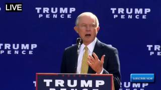 Jeff Sessions Delivers an AMAZING and IMPORTANT Speech at Trump Rally New Hampshire