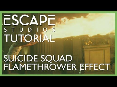 Suicide Squad Flamethrower Effect - Escape Studios Free Tutorial