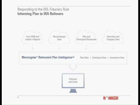 Morningstar Webinar Responding to the DOL Fiduciary Rule