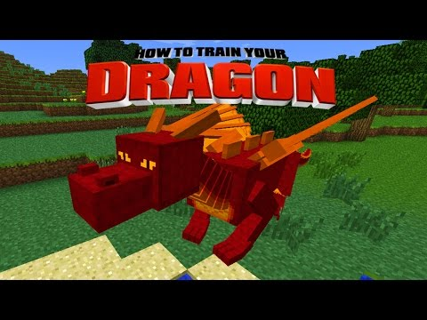 HOW TO TRAIN YOUR DRAGON [1] - Minecraft Custom Mod Adv ...