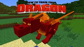 Minecraft - HOW TO TRAIN YOUR DRAGON - Learning how to fly [4]