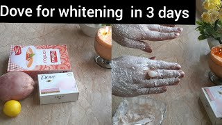 whitening skin with dove and potato in 3 days/Japanese secret for whitening