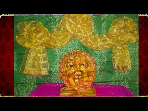 Ganpati decoration ideas for home   Ganesh decoration ideas for home  