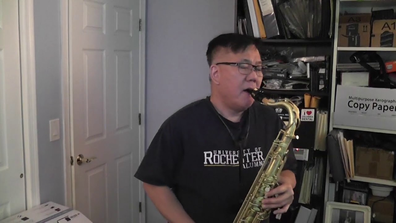 Dr. Yee plays the Tenor Sax!  Too Young to Go Steady cover
