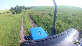 Вид з кабіни трактора Мтз 82 до поля
