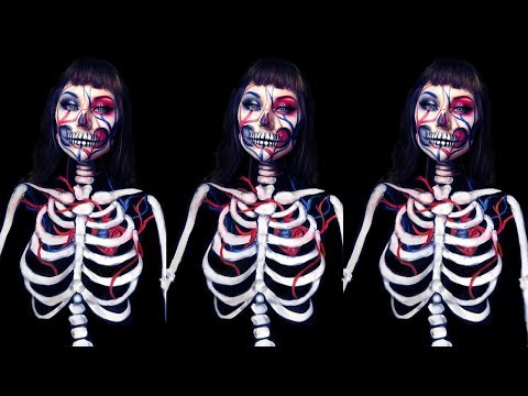 Exposed Veins Skeleton Halloween Makeup Tutorial thumbnail