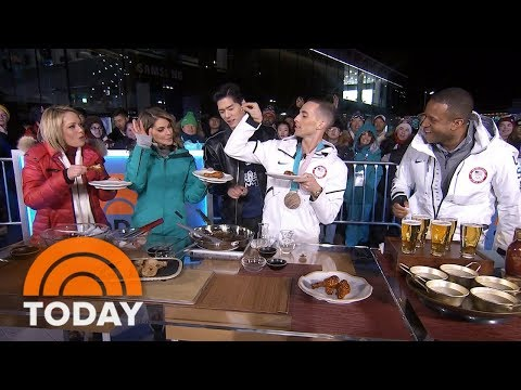 See Figure Skater Adam Rippon Try Korean Fried Chicken | TODAY