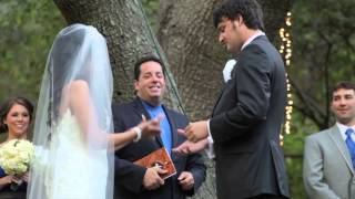 Wedding Officiant Alan Katz Performs a wedding at Calamigos Ranch Shot by Perryfield Films