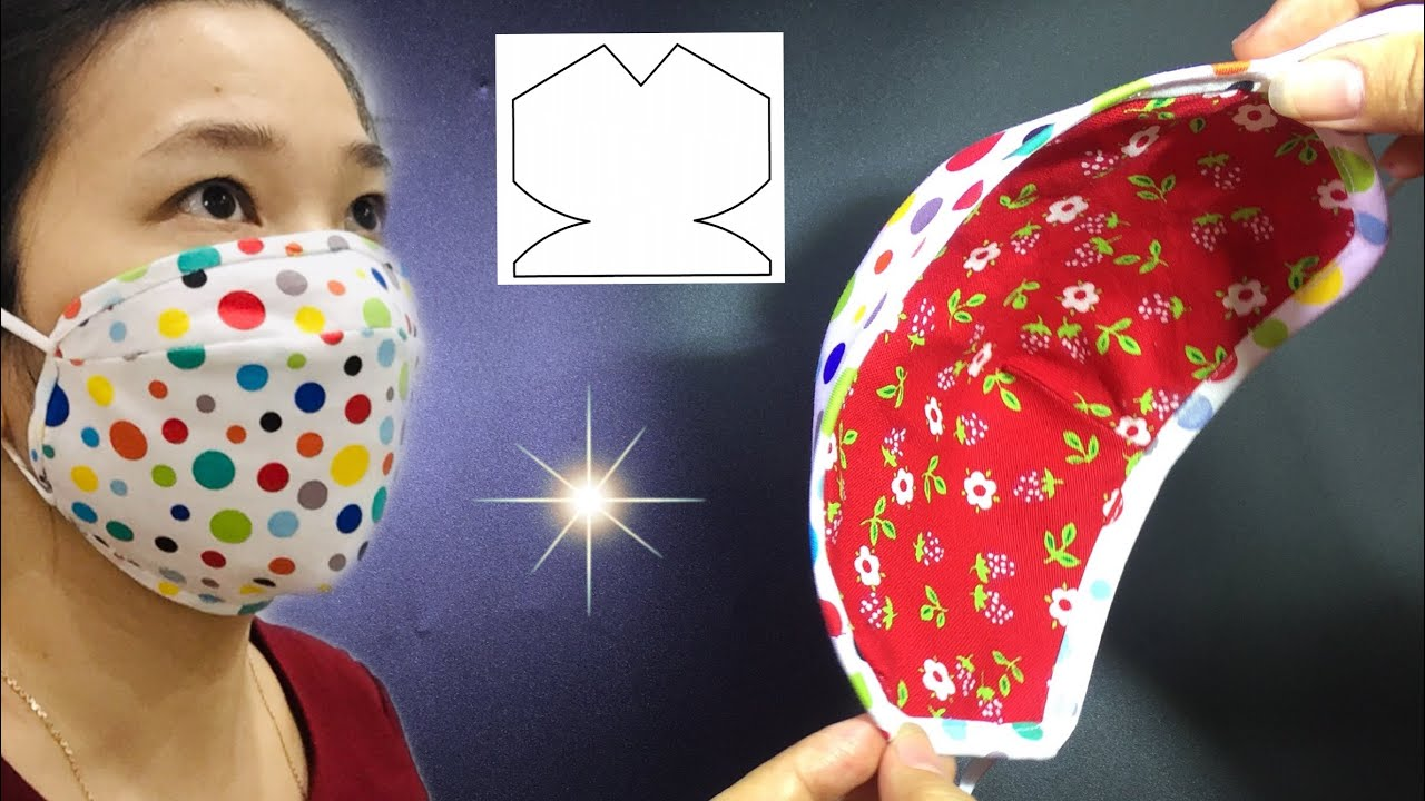 🌸  🌸  🌸 3D mask very nice,  fits face, easy to make at home