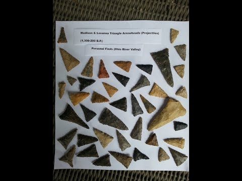 Ohio River Valley Ft. Ancient Arrowheads Archaeology TREASURE